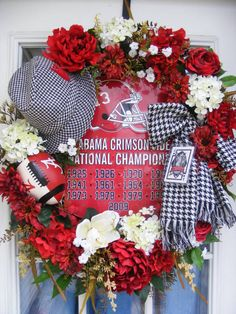 Roll Tide Door Wreath