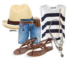 Switch that fanny pack for a crossover and you've got yourself a cute vacay outfit!