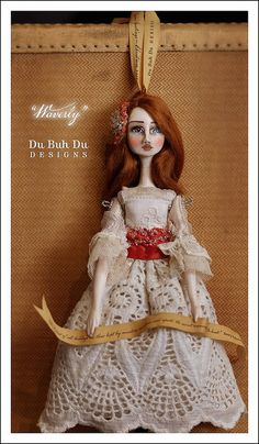 """Waverly"" Doll Ornament by Christine Alvarado -  du_buh_du_designs"