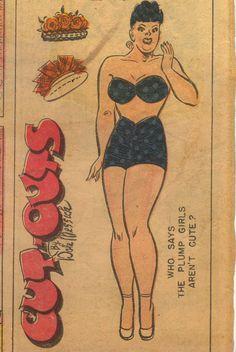 Abertha from Brenda Starr comics, paper doll, 1948.