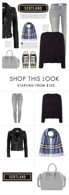 """Scotland in Winter"" by katsin90 ❤ liked on Polyvore featuring Paige Denim, Balmain, IRO, Burberry, Givenchy and Converse"