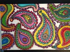 Paisley in my Dreams...I did this with Sharpies and Sakura pen...up close u can see the detail..