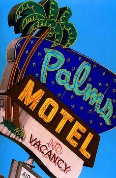 cartel luminoso motel neon sign viajar travel mirquechulo
