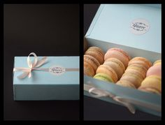 Box with different Macarons