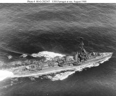USS Farragut (DD-348): Underway at sea in August 1944. Official U.S. Navy Photograph, now in the collections of the National Archives.