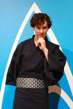 "#BenedictCumberbatch in ""yukata"", a traditional, casual summer wear in Japan."