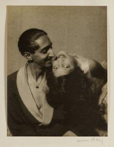 Maharaja Yeshwani Rao Holkar II and Maharani Sanyogita Devi of Indore, c. 1930. Man Ray, Al-Thani Collection. Used courtesy of the Asian Art Museum, San Franciso