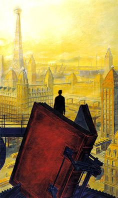 """Paris au XXieme Siecle by Jules Verne (1994)"" by François Schuiten"