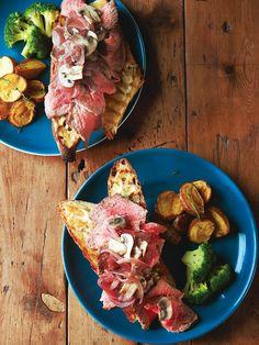 Recipe:オープンフェースステーキサンドイッチ/ワインにもぴったりな、ごちそうサンド #レシピ #elleatable