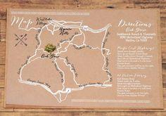 Custom Wedding Map Illustration  digital file event by dippledot