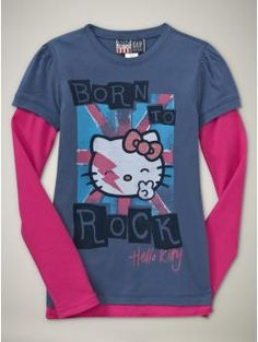 Hello Kitty born to rock