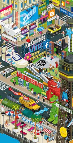 ADIDAS_blogger city (detail) by Totto Renna, via Behance