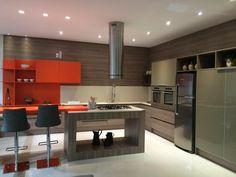 Mais um projeto sai do papel, uma cozinha com cores e texturas que encantam!! Este belíssimo projeto foi desenvolvido por Renata Mosena Arquitetura&Design!!