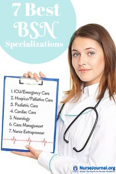 There are so many nursing specialties to pick from it's get an idea of which ones are the best. This is a great resource with 7 of the Best BSN RN Specializations http://nursejournal.org/bsn-degree/7-most-popular-bsn-specializations/