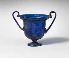 Glass cantharus (drinking cup) Period: Early Imperial, Claudian or Flavian Date: ca. A.D. 40–80 Culture: Roman