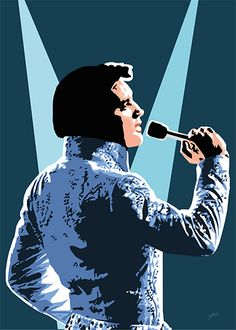 Spotlight On Elvis Vector Portrait, Portrait Art, Bruce Lee Art, Elvis Presley Pictures, Elvis Memorabilia, Film Icon, Pop Art Illustration, Various Artists, Some Pictures