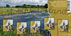 Nederlandse beek de Reest op een postzegelvel.