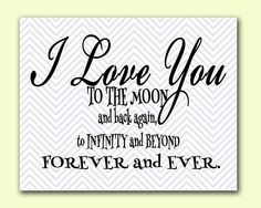 I Love You to the Moon and Back - Chevron Nursery Room Baby Love Quote Printable Wall Art 8x10 -Digital JPEG File High Resolution 300dpi (8)