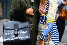 Paris Street style. Delvaux bag. What is this dress and where did it come from?