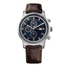 1791244 Ανδρικό ρολόι TOMMY HILFIGER Harrison με μπλε καντράν & καφέ κροκό δερμάτινο λουρί | Ρολόγια TOMMY HILFIGER ΤΣΑΛΔΑΡΗΣ στο Χαλάνδρι #Tommy #Hilfiger #Harrison #λουρι #ρολοι