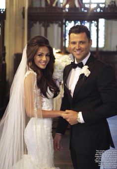 dailyactress:  Michelle Keegan and Mark Wright on their wedding day