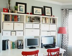 Office hutch Love this idea for more storage