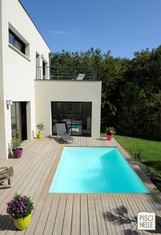 1000 images about piscine on pinterest petite piscine for Piscine contemporaine