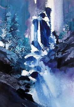 Hey there... Have been getting materials together for a workshop on Artists Network University, and thought I'd share. Have been painting waterfalls withou...