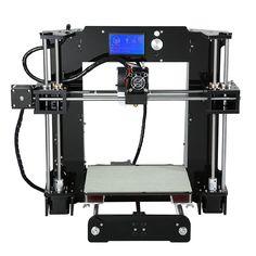 Latest High Precision 220*220*250mm Full Acrylic Anet A6 Reprap Prusa i3 DIY3D Printer Kit Free Filament 16GB SD Card  LCD