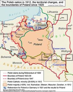 """Poland map - these changes of Poland's borders are an effect of betrayal of USA and England, during talks with """"Uncle Joe""""=Stalin Murderer of Nations European History, World History, Family History, Poland Map, Poland History, Alternate History, Family Genealogy, Old Maps, Historical Maps"""