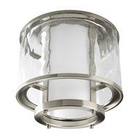 Nickel Pewter Silver Steel Flush Mount Ceiling Lights | ATG Stores