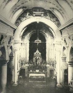 Interior da Igreja de São Sebastião, Morro do Castelo, Centro. Rio de Janeiro, 1921.