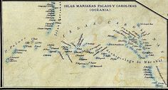 Map of 1888 showing the Spanish East Indies, being part of it Palau Islands (map without Philippines)