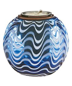 Look what I found on #zulily! Blue Patterned Firepot #zulilyfinds