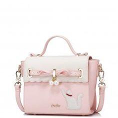896c2fae8b7e9 Kocia piękność z pomysłem - różowo-biała torebka Just Star Modne Buty