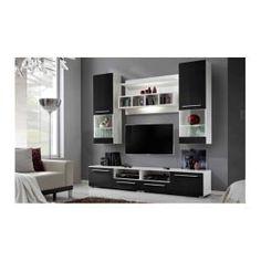 MEUBLE TV - HI-FI Ensemble meuble TV CORTE noir