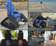 "The Tank Chair by TC Mobility: ""Tank Chair is a custom off-road wheelchair that can go anywhere outdoors. TankChair conquers streams, mud, snow, sand, and gravel, allowing you to get back to nature. Using rubber tracks and high-torque electric motors, Tank Chair will take you anywhere and back."" #NMEDA"