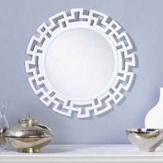 Greek Key Round Wall Mirror at HSN.com