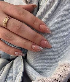 Almond Acrylic Nails, Best Acrylic Nails, Almond Shape Nails, Almond Nail Art, Long Almond Nails, Classy Almond Nails, Nails Shape, Classy Nails, Shapes Of Nails