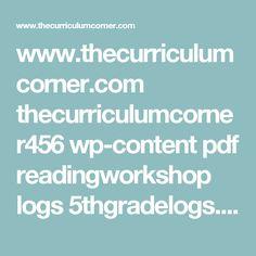 www.thecurriculumcorner.com thecurriculumcorner456 wp-content pdf readingworkshop logs 5thgradelogs.pptx