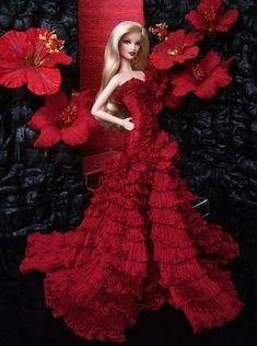 Red dress Barbie