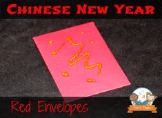 {Free Printable} Red Envelope Template for Celebrating Chinese New Year in Preschool and Kindergarten