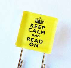 Keep Calm Bookmark Glass Bookmark book mark Keep by KellysMagnets, $5.00