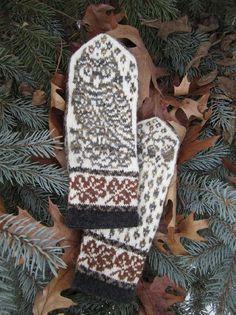 Ravelry: Owl in Oaks Mittens pattern by Natalia Moreva Knitting Charts, Hand Knitting, Knitting Patterns, Crochet Patterns, Stitch Patterns, Hat Patterns, Loom Knitting, Knit Mittens, Knitted Gloves
