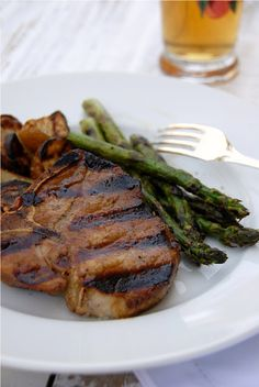 Coffee Marinated Grilled Pork Chops - YUM! serve with asparagus and roasted red potatoes
