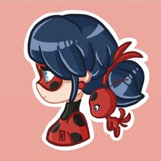 Ladybug and Tikki Ladybug And Cat Noir, Meraculous Ladybug, Ladybug Comics, Miraculous Ladybug Wallpaper, Miraculous Ladybug Fan Art, Chibi Kawaii, Cute Chibi, Les Miraculous, Cute Drawings