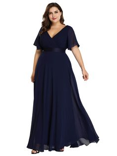 Find Ever-Pretty Women's Plus Size Double V-Neck Evening Party Maxi Dress 09890 online. Shop the latest collection of Ever-Pretty Women's Plus Size Double V-Neck Evening Party Maxi Dress 09890 from the popular stores - all in one Navy Bridesmaid Dresses, Bridesmaid Dresses Plus Size, Evening Dresses Plus Size, Evening Gowns, Evening Party, Wedding Dresses, Party Dresses, Occasion Dresses, Bridal Gowns