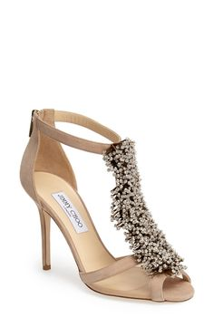 Head over heels for this Jimmy Choo sandal drenched in Swarovski crystals.