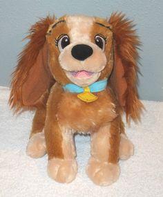 "DISNEY LADY & The Tramp 11"" Plush Stuffed Dog Toy Soft Cuddly Movie Character #Disney"