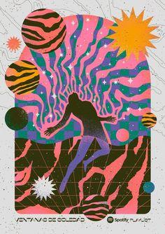 Digital Illustration, Graphic Illustration, Book Design, Design Art, La Art, Poster Layout, Graphic Design Posters, Psychedelic Art, New Wall